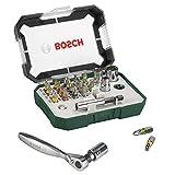 Bosch 26tlg. Schrauberbit- und Ratschen-Set (Extra harte Qualität, Zubehör Bohrschrauber und...