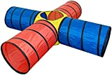 Bieco Kriechtunnel XXL 4-Röhrig ca. 250x 250x 48 cm   Spieltunnel für Kinder   Agility Set Hunde  ...