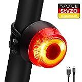 ORSIFOW Fahrrad Rcklicht, StVZO Zugelassen Ultra Hell Fahrradrcklicht LED USB Aufladbar,...