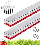 Cucino Messerleiste Magnet kleben inkl. 3M VHB Klebeband - Magnetleiste selbstklebend für...