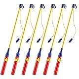 Keten Laternenstab mit LED für St Martin, LED Elektronischer Laternenstab 6er-Pack für...