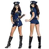 perfecti 4-Teile Damen Sexy Polizistin Kostüm Set Copsplay Erotische Uniform Für Mottoparty...