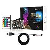 USB LED Strip Light Kit, 5050 RGB Flexibles Bandlicht, Nicht wasserdichte Lichterketten mit 24...