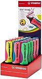 Textmarker STABILO Boss Splash Display von 15 Stück in 4 verschiedenen Farben