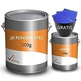 BEKATEQ Feinspachtel BK-110EP 2K Epoxidharz, 0,75 kg l Spachtelmasse für Boden, Auto & Boot l Risse...