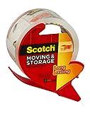 Scotch 3650S-RD 2' X 55 Yds Clear Scotch Super Packing Tape W/Dispenser