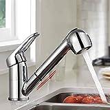 BONADE Küchenarmatur Ausziehbar Wasserhahn mit Zwei Strahlarten Verchromte Armatur Hochdruck 360°...