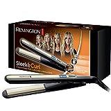 Remington Glätteisen Sleek & Curl (abgerundetes Design -ideal zum Glätten & Stylen von Locken und...