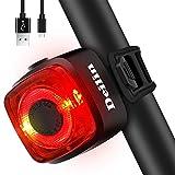 Deilin LED Fahrrad Rücklicht, Zugelassen IPX5 Wasserdicht Auflagbar Akku mit USB 220 Grad...