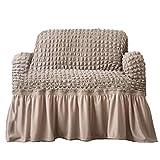 sevenTimes Sofabezug mit elastischem Rock, 3 Größen, aus solidem Polyester, Einzelbett,...