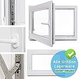 Kellerfenster - Kunststoff - Fenster - wei - BxH: 100 x 70 cm - DIN rechts - 2-fach-Verglasung -...