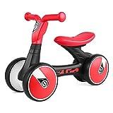 Bamny Kinder Laufrad superleichtes Lauflernrad fr Baby und Kinder 1-3 Jahre Alt (Rot-Schwarz)