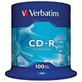 Verbatim CD-R Extra Protection 700 MB I 100er Pack Spindel I Oberfläche weiß I CD Rohlinge I 52x...