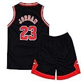 Rying Kinder Herren NBA Basketball Trikots Set - NBA Bulls Jordan#23 / Lakers James#23 / Warriors...