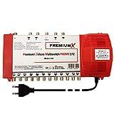 PremiumX Deluxe Multischalter PXDMS 5/12 SAT TV Matrix Signal-Verteiler Multiswitch 1 Satellit 12...