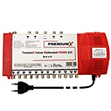 PremiumX Deluxe Multischalter PXDMS 5/12 SAT TV Matrix Signal-Verteiler Multiswitch 1 Satellit 12...