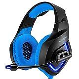 LHTE Kopfhörer, Kopfhörer, USB mit Mikrofon LED-Licht verwendet Spiele zu Spielen und hören...