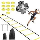 Fostoy Koordinationsleitern für Fußball, Speed & Agility Training Kit Agility Leiter und Kegel,...