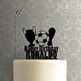 Custom Soccer Happy Birthday Cake Topper für Jahrestag Party Dekorationen Geburtstage, Hochzeiten,...