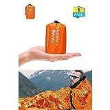 Charminer Notfallzelt,Biwaksack Survival Schlafsack warm Outdoor Tube Zelt wasserdicht leicht...