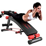 Cymbidy UK - Bauchtrainer Multifunktionale Sit-Up-Bank Ist Perfekt - Trainingsbank - FitnessgeräTe...