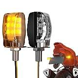 CCAUTOVIE Motorrad LED Blinker Universal LED Motorrad Licht Für Roller Atv Rücklicht Schwarz...