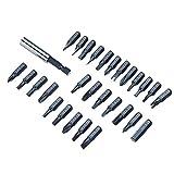 MXBIN 29 PC/Satz 1/4 Magnetic Bit Set mit Werkzeugkasten Bithalter Tipps Schraubendreher Phillips...