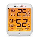 ThermoPro TP53 digitales Thermo-Hygrometer Thermometer Hygrometer Raumluftüberwachtung Temperatur...
