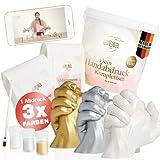 larella® 3D Handabdruck Set für Paare mit 3 Farben, Komplettset, Gipsabdruckset Hände mit...