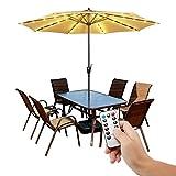 [Upgrade] 104 LED Sonnenschirm mit Fernbedienung 8 Modi Sonnenschirmbeleuchtung wasserdicht...