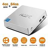 ACEPC T11 Mini PC, Windows 10 Pro 4GB RAM/ 64GB eMMC Intel Atom x5-Z8350 Prozessor Mini Computer mit...