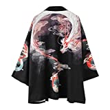 Siehin Herren Drache-Druck Frühling-Sommer Kimono Cardigan Japan Happi Kimono Jacke Yukata Coat...