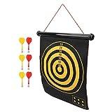 KUIDAMOS Einfache Aufbewahrung mit Lanyard Dart Board Set 15 Zoll, zum Entspannen, für...