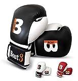 BOUT3 Boxhandschuhe Kickboxen Handschuhe für Muay Thai MMA Sandsack Boxsack Boxen Sparring Training...