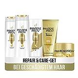 Pantene Pro-V Haarpflege Set: 2x Repair & Care Shampoo 300ml + 1x Pflegespülung 200ml + 1x 3 Minute...