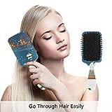 Haarbürste mit Weihnachtspaddeln, zum Glätten und Glätten von Haaren, für Damen und Herren, für...