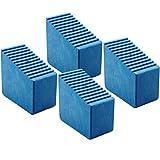 Leiterfüße Gummifüße für Holzstehleitern 4 Stk. 3-8 Sproßen INNENMAßE 56x23mm Blau HB40