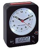 TFA Dostmann Combo Funkwecker, Uhrzeit Analog und Wecker Digital, Funkuhr mit Hoher Przision, leise,...