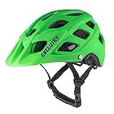 Exclusky Kinder-Fahrradhelm, Mountainbike-Helm, leicht befestigtes Visier, verstellbar, für Jungen...
