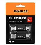 THKAILAR USB-C-Flash-Laufwerk, 32 GB, High-Speed, USB 3.0, für Musik/TV/Video/externe...