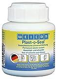 WEICON Plast-o-Seal 120g Tube mit Pinsel streichbare hitzebeständige Dichtmasse