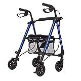 LBYMYB Gehhilfe für Senioren, mit Rad, tragbarer Sitzhilfe mit Handbremse, zusammenklappbar, Alter...