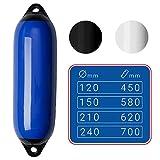 SEILFLECHTER - Aufblasbarer Langfender | Damit Ihr Boot sicher geschützt ist in blau, Ø 120 mm,...