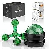 M.S.Lemberg Massageball - Triggerpunkt Massagegerät Set (inkl. Massageroller mit Griff &...