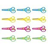STOBOK 12 stücke kinder sicherheitsschere stumpfe spitze kunststoff papier schere trainingsschere...