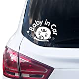 P004 | Baby in Car Aufkleber 14cm x 10cm Auto Sticker Babyaufkleber Autoaufkleber Vinyl Baby on...