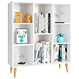 Homfa Bücherregal, Regal mit 8 Fächer, Standregal Schrank Raumteiler Kinderregal 80x29.5x93cm...