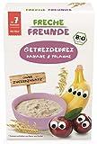 Freche Freunde Bio Feines Porridge Pflaume & Banane, Getreidebrei mit Obst für Babys ab 7 Monaten,...