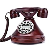 MYYINGBIN Retro Massivholz Festnetztelefon Antikes Schnurgebundenes Telefon Mit Anrufer-ID...