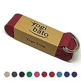 Yogibato Yogagurt 100% Baumwolle  240 x 3,8 cm   Band zur besseren Dehnung  Cotton Strap  Yogaband...